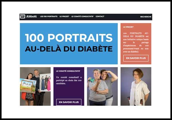 100 Portraits Au-Delà du Diabète